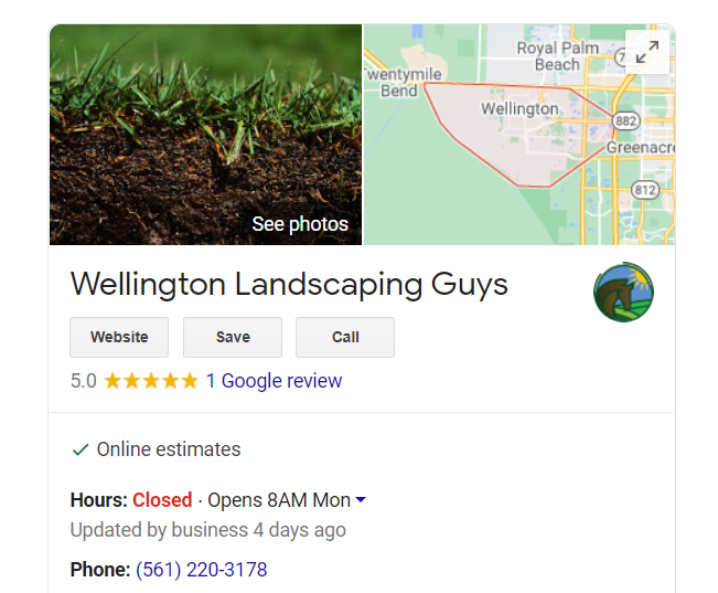 wellington landscapers